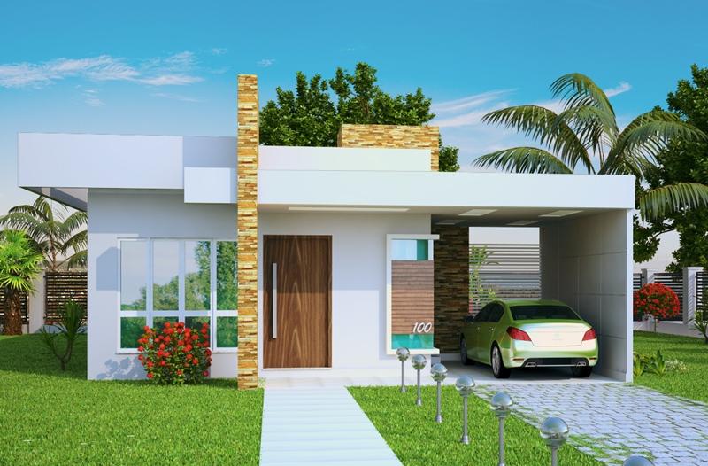Planta de casa t rrea com 2 quartos for Casa moderna 80m2