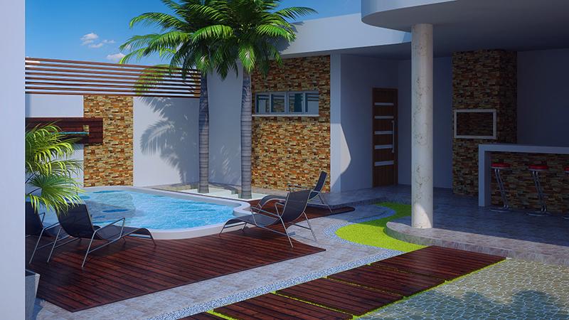 Sobrado brasilia com 3 quartos edicula piscina e garagem for Piscina 6 x 3