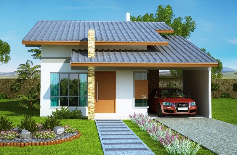 Casa belem com 2 quartos suite closet e banheira for Modelos de casas bonitas y economicas