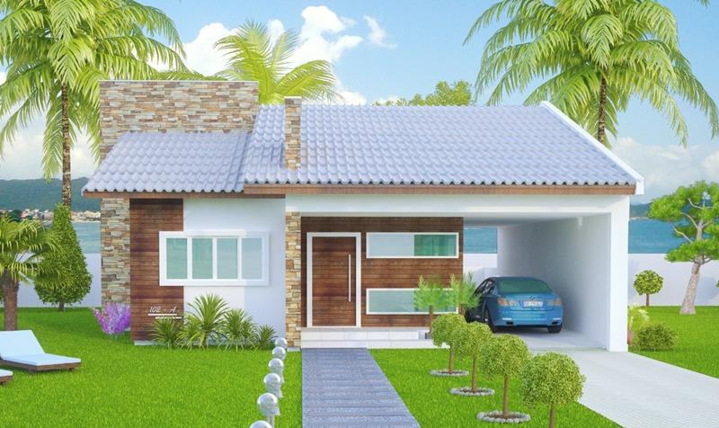 Casa sao goncalo mostra a simplicidade com muito for Casa moderna 80m2