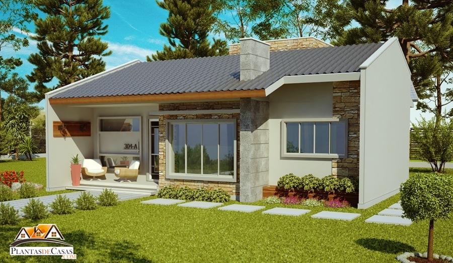 Planta de casa ribeirao preto 2 quartos e 70m for Modelos de casas de una planta modernas