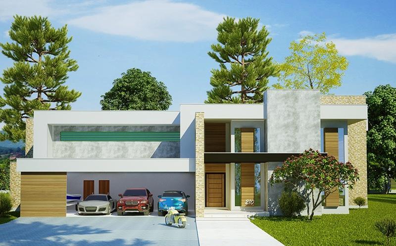 Casa luanda projeto moderno com 5 suites e 4 vagas de for Casa moderna 80m2