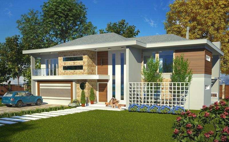 Sobrado olinda casa moderna com 4 quartos sendo 2 for Viviendas modernas de una planta