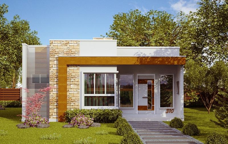 Planta de casa natal casa pequena e moderna com 2 quartos for Casa moderna 2 andares 3 quartos