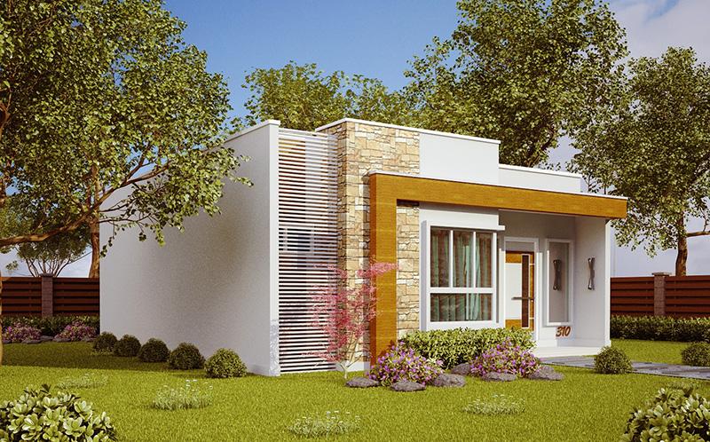 Planta de casa natal casa pequena e moderna com 2 quartos for Casa moderna 8x20