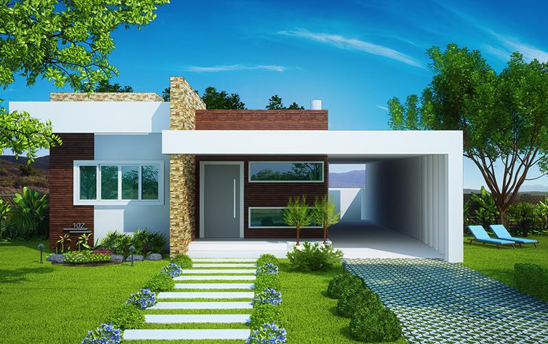 Casa 39 fortaleza 39 casa t rrea com 3 quartos 1 suite for Casa moderna 80m2