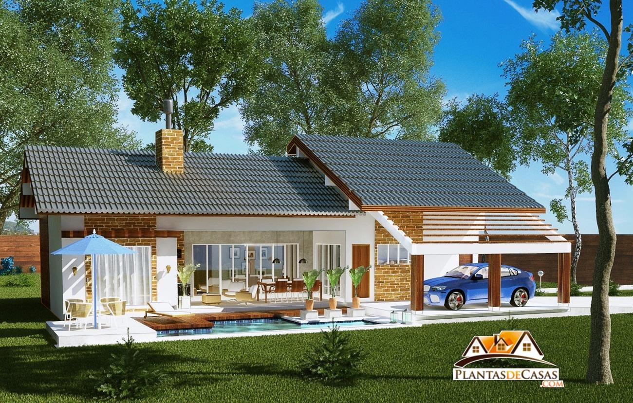 Casa de campo goi s com 3 quartos e espa o gourmet com for Fotos casas de campo con piscina