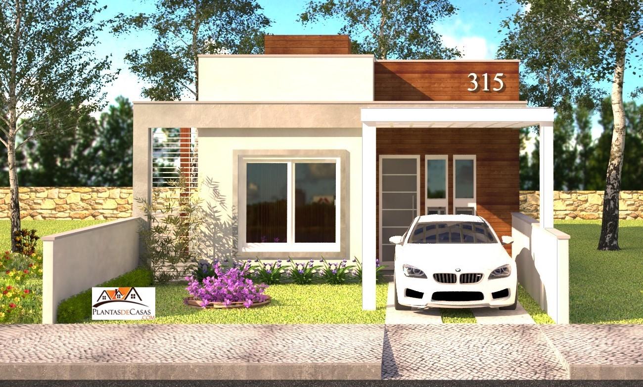 Casa piracicaba planta de casa pequena com 2 quartos for Fachadas de casas modernas de 2 quartos
