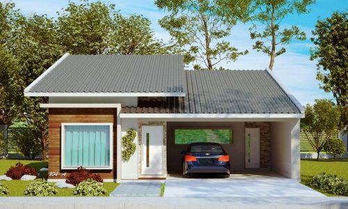 Plantas de casas entre 100m e 150m prontas para construir for Casa moderna 60 m2