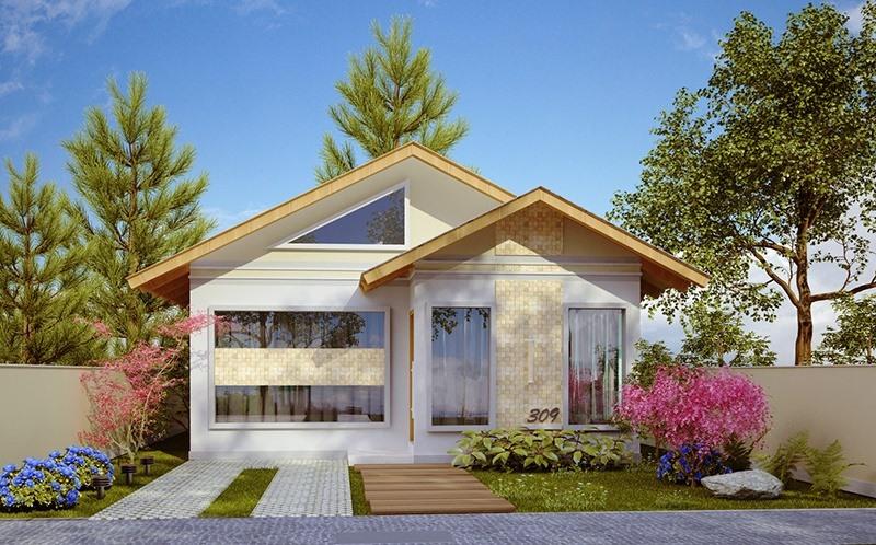 Casa santo andre pequena com 3 quartos e suite for Fotos de casas modernas brasileiras