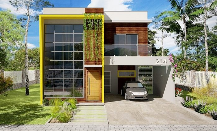 214 - fachadas de casas - frontal