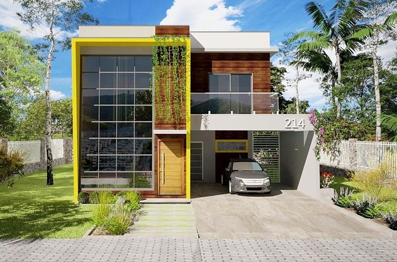 Planta de casa jaboat o dos guararapes for Casa moderna 2 andares 3 quartos