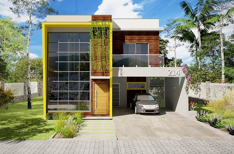Planta de casa jaboat o dos guararapes for Fachadas de casas modernas de 2 quartos