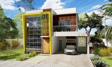 214 - plantas de casas - fachada direita