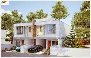 5 Modelos de plantas de casas geminadas