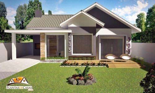 Plantas de casas com rea entre 101m e 150m for Casa moderna 64