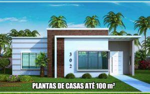 Plantas de casas até 100m2