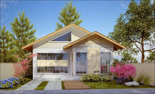 fachada de casa terreno 10x20