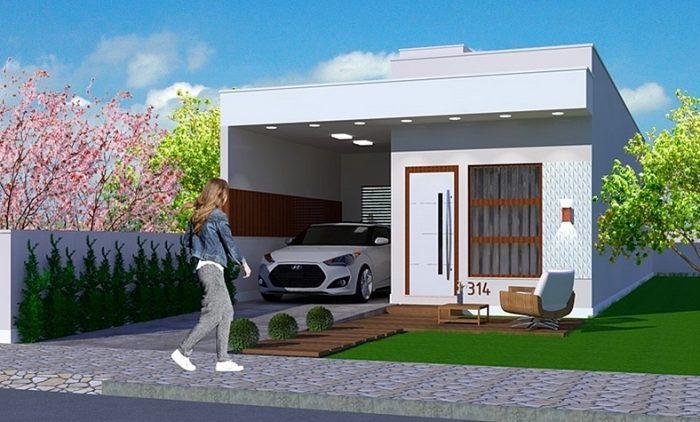 Fachada casa terreno 6x25