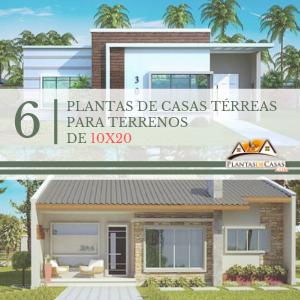 Plantas de casas para terreno 10×20