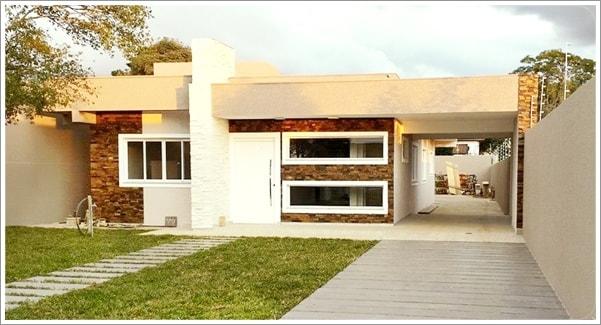 Fachada frontal da casa Fortaleza com modificações - Cliente 2