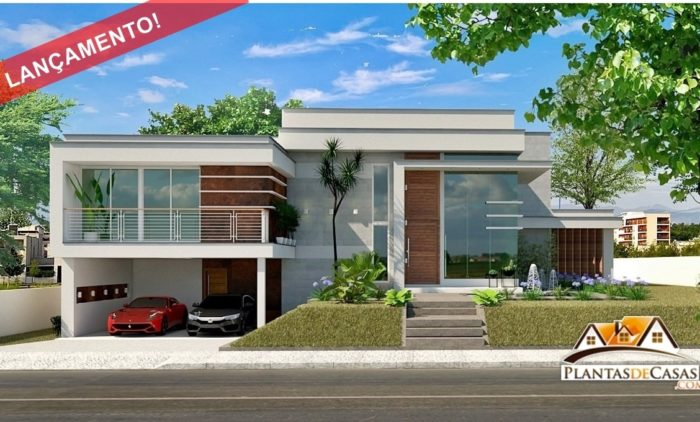 planta de casa moderna - casa gramado