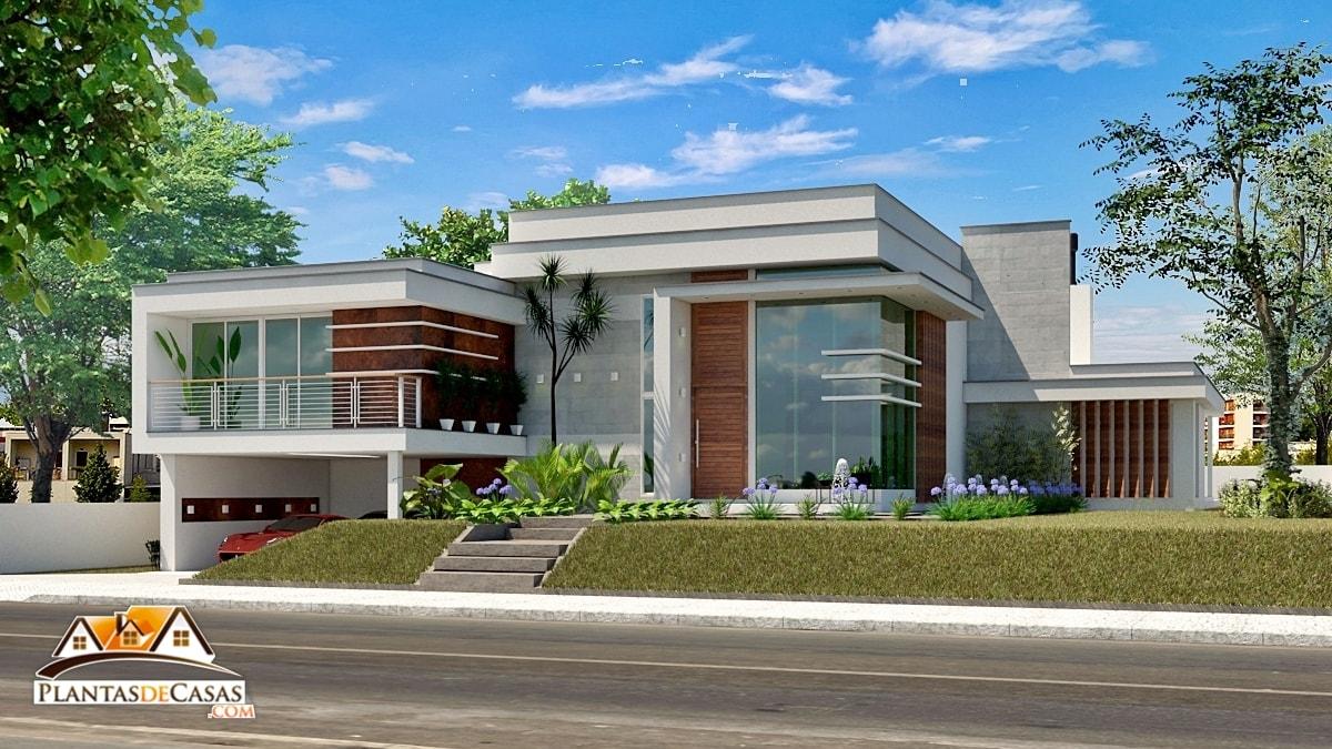 Plantas de casas modernas com 3 quartos for Casa moderna l