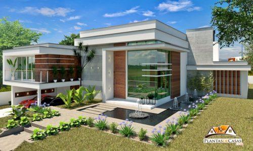Plantas de casas projetos de casas sobrados e muito mais for Casa moderna gratis
