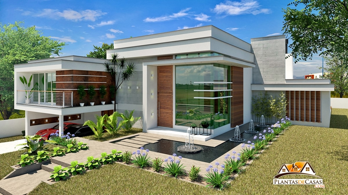 Plantas de casas modernas com 3 quartos for Casa moderna 9002
